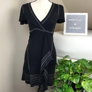 Nanette Lepore Black Knit Short Sleeve Dress Small